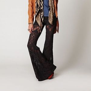 Free people Nightcap collab lace bell bottoms